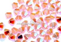 Swarovski, margele bicone, rose water opal AB2x, 4mm - x20