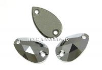 Swarovski, link picatura, light chrome, 12x7mm - x1