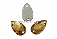 Swarovski, link picatura, light colorado topaz, 12x7mm - x1