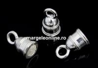 Terminatie bratari si coliere, argint 925, interior 4mm - x2