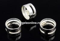 Link pentru rivoli sau chaton 6mm, argint 925, 7mm - x1