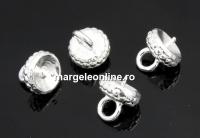 Baza pandantiv ghinda, argint 925, cupa cu pin, 6mm - x1