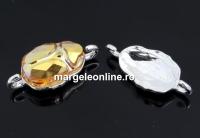 Baza link ag925, pt. margele Swarovski scarab de 12mm, 5728 - x1