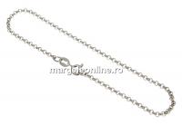 Bratara zale rotunde, argint 925 placat cu rodiu, 19cm - x1