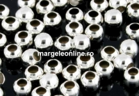 Margele decor, ag 925 pl cu rodiu, 4mm, int.1.8mm - x5