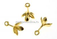 Agatatoare pandantiv argint 925 pl. cu aur, cupa floare, 13mm - x1