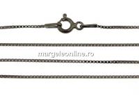 Lant zar, argint 925 placat cu rodiu negru, 55cm - x1