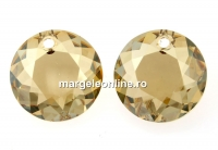 Swarovski, pandantiv chaton, golden shadow, 14mm - x1