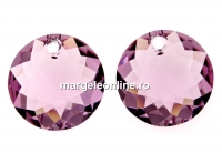 Swarovski, pandantiv chaton, light amethyst, 8mm - x2