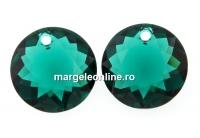 Swarovski, pandantiv chaton, emerald, 10mm - x1