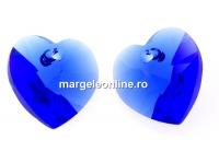 Swarovski, pandantiv inima, majestic blue, 10mm - x2