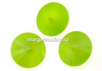 Swarovski, rivoli, lime, 12mm - x2