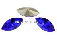 Swarovski navette, fancy chaton , majestic blue, 8mm - x4