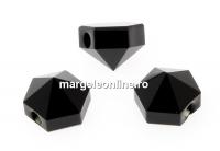 Swarovski, margele, tinta hexagonala, jet, 5.5mm - x4