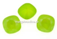 Swarovski, fancy square, lime, 12mm - x1