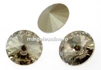 Swarovski, rivoli, silver shade, 10mm - x2