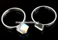 Baza inel argint 925, cub 6mm, interior 18.3mm - x1