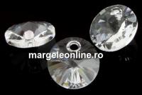Swarovski, pandantiv rivoli, crystal, 6mm - x10