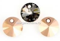 Swarovski, pandantiv rivoli, rose gold, 6mm - x10