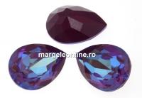 Swarovski, fancy picatura, burgundy DeLite, 18x13mm - x1