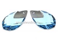 Swarovski, pandantiv picatura, aquamarine lt. chrome, 18mm - x1