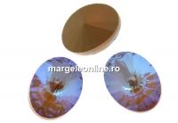 Swarovski, fancy oval, cappuccino DeLite, 14x10.5mm - x2