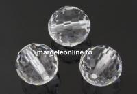 Swarovski, margele, rotund fatetat, crystal, 10mm - x1