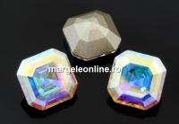 Swarovski, chaton imperial square, aurore boreale, 10mm - x1