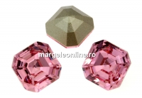 Swarovski, chaton imperial square, light rose, 10mm - x1