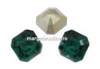 Swarovski, chaton imperial square, emerald, 10mm - x1