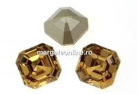 Swarovski, chaton imperial square, light colorado topaz, 10mm - x1