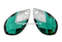 Swarovski, pandantiv picatura, emerald lt. chrome, 22mm - x1
