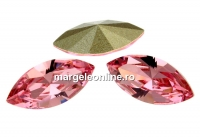 Swarovski navette, fancy chaton, rosaline, 15mm - x2