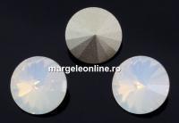 Swarovski, rivoli, white opal, 12mm - x2