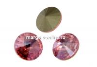 Swarovski, rivoli, light rose-moonlight, 8mm - x2