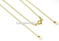 Lant pentru linkuri argint 925 placat cu aur, 45cm - x1