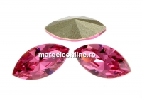 Swarovski navette, fancy chaton, rose, 8mm - x4
