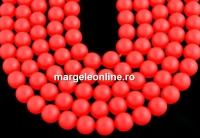 Perle Swarovski, neon red, 2mm - x100
