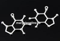 Pandantiv formula chimica-cafeina, argint 925, 25mm  - x1