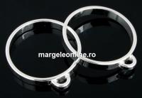 Baza inel cu 1 bucla, argint 925, interior 17.2mm - x1