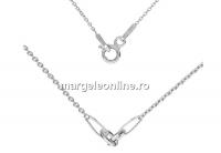 Lant pentru linkuri argint 925, zale incluse, 41cm - x1