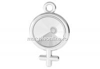 Baza pandantiv argint 925, simbol feminin, pentru rivoli 8mm - x1