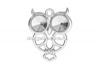 Baza pandantiv argint 925, bufnita, pentru rivoli 6mm - x1