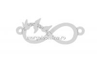 Link infinit cu porumbei, argint 925, 22mm - x1