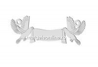 Link pentru gravat, porumbei, argint 925, 32mm  - x1