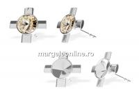 Tortite cercei cruce, argint 925, rivoli de 6mm - x1per