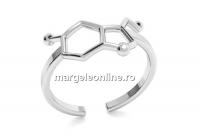 Baza inel serotonina, argint 925, reglabil   - x1