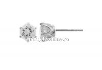 Tortite cercei cu cristal, argint 925 - x1per