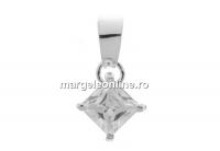 Pandantiv cu cristal, argint 925, 18x9.5mm - x1
