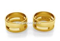 Link pentru rivoli sau chaton 6mm, argint 925 pl cu aur- x1